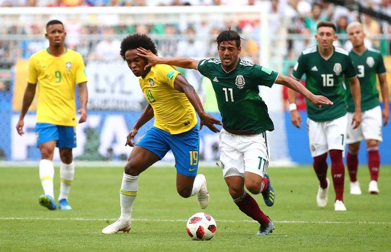 Hasil gambar untuk brasil vs meksiko
