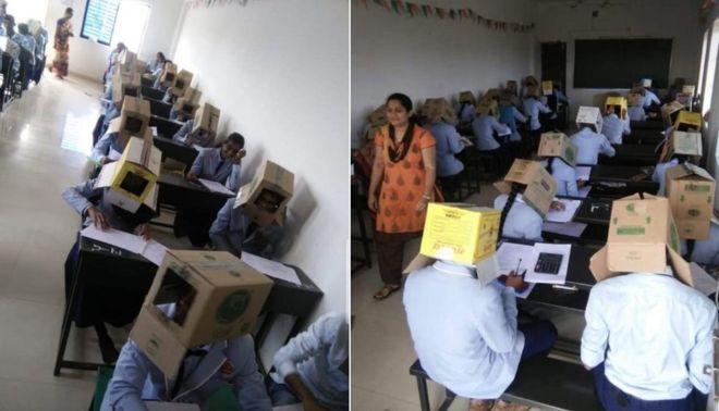 https: img-o.okeinfo.net content 2019 10 20 18 2119364 cegah-menyontek-mahasiswa-di-india-kerjakan-ujian-mengenakan-kardus-di-kepala-65KESBHZeJ.jpg