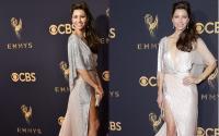 Gara Gara AC Mati, Jessica Biel Tampil Basah di Atas Red Carpet Emmy Awards 2017