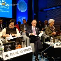 Sri Mulyani: IMF dan World Bank Ikut Pantau Perkembangan Status Gunung Agung