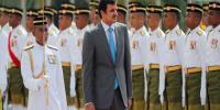 Wih..Siswa Siswi Antusias Sambut Kedatangan Emir Qatar di Istana Bogor