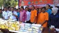 Mantap! BNN Bakar 500 Kg Ganja, 191 Kg Sabu dan 43 Ribu Pil Ekstasi di Medan