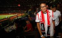 Laga Persija vs Semen Padang, Sandiaga Uno Dapat Sambutan Meriah