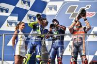 Pertama Kali dalam Sejarah, Marc Marquez, Valentino Rossi dan Vinales Berdampingan di Podium