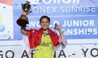 Raih Medali Emas di Kejuaraan Dunia Bulu Tangkis Junior 2017, Gregoria: Saya Persembahkan untuk Indonesia
