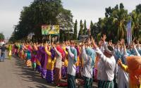 Luar Biasa, 4 Ribu Orang Menari Jepin Peringati HUT ke-246 Kota Pontianak