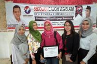 Sosok Wanita-Wanita Cantik di Sekolah Calon Legislatif Pemuda Perindo Sumut