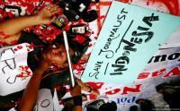 Merasa Diintimidasi Polisi, Puluhan Wartawan di Timika Minta Perlindungan ke Koramil