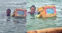 Kisah Pria Tua Jual Es Krim di Tengah Laut Demi Hidupi Keluarganya