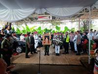 Upacara TNI Lepas Jenazah AM Fatwa di Rumah Duka