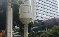 Tower Milik PT Bali Towerindo Sentral di Jalan Medan Merdeka Disegel Satpol PP