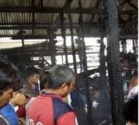 Lupa Matikan Kayu Bakar, Rumah Warga Hangus Terbakar