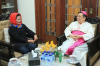 Kunjungi Gereja, Puti Soekarno Komitmen Jaga Kebhinekaan