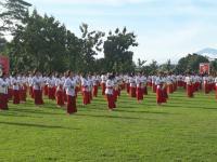 Koster-Ace Disambut Ratusan Penari saat Kampanye di Mengwi