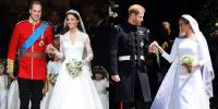 Kontrasnya Foto Royal Wedding Harry-Meghan Markle dan William-Kate Middleton