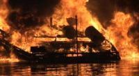 Kapal Tanker Pertamina di Banjarmasin Terbakar, Sungai Tiba-Tiba Penuh Api