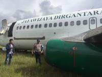 Pesawat Kargo Jayawijaya Dirgantara Tergelincir di Bandara Wamena