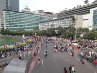 Suasana Hari Pertama Car Free Day Pasca-Bulan Ramadhan