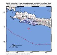 Gempa 4,7 SR Guncang Kabupaten Garut