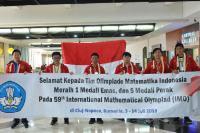 Raih 6 Medali Olimpiade Matematika, Peringkat Indonesia Naik ke-10 Besar