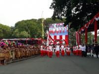 Api Obor Asian Games Sempat Mati saat Dibawa Jokowi