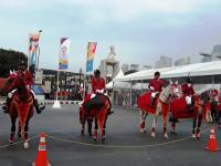 Deretan Pasukan Berkuda Bersiaga di Depan Pintu 1 Stadion Utama GBK