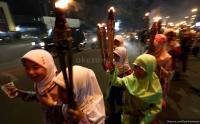 Sambut Hari Raya Idul Adha, Ratusan Anak di Jambi Pawai Obor