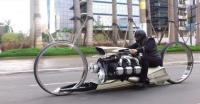 Marques Bikin Sepeda Motor Pakai Mesin Pesawat Rolls-Royce