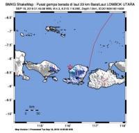 Lombok Utara Diguncang Gempa 4,3 SR