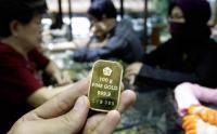 Harga Emas Antam Tetap Dijual Rp671.000 per Gram