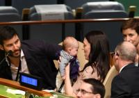 PM Selandia Baru Bawa Bayinya yang Berusia 3 Bulan ke Ruang Sidang PBB