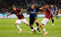 Inter Milan vs AC Milan Masih Sama Kuat di Babak Pertama