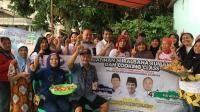 Ibu-Ibu di Bekasi Ikuti Senam Sehat dan Pelatihan Cooking Class Caleg Perindo