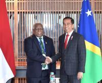 Jokowi Gelar Pertemuan Bilateral dengan PM Kepulauan Solomon