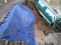 Hujan Deras, Proyek Tol Kunciran-Cengkareng di Jalan Daan Mogot Tangerang Longsor