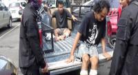 Melawan saat Ditangkap, 2 Bandit Jalanan Ambruk Ditembak Polisi