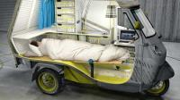 Uniknya Kendaraan Roda Tiga Miliki Tempat Tidur Dirancang untuk Kemping
