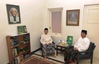 Jokowi Diskusi dengan Gus Sholah di Kamar KH Hasyim Asy'ari