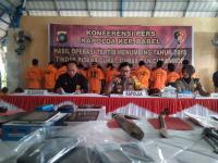 Polisi Bongkar 37 Kasus Curanmor dalam 2 Pekan di Bangka Belitung