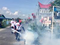 Cegah DBD, Caleg Perindo Fogging Permukiman Dekat Bandara Kualanamu