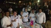 Keseruan Wali Kota Airin Nobar Debat Capres di Markas Perindo Tangsel