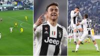 Kombinasi Selebrasi Milik Ronaldo dan Dybala Mask di Laga Juventus vs Frosinone