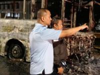 Bus Transjakarta Terbakar di Pasar Baru