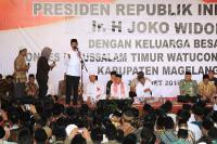 Jokowi Dapat Doa Khusus saat Kunjungi Ponpes di Magelang