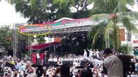 Spanduk di Acara Sujud Syukur Kemenangan: Prabowo Subianto Presiden NKRI