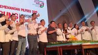 Syukuran Hasil Quick Count, Erick Thohir Sebut Jokowi Menang 55%