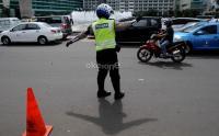 Antisipasi Unjuk Rasa, Polisi Terapkan Rekayasa Lalin di Sekitaran Kantor KPU RI