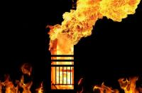 Kebakaran Pos Polantas Solo Diduga karena Orang Bakar Sampah