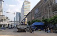 Jalan MH Thamrin Masih Ditutup Meski Kawat Berduri Sudah Dibongkar
