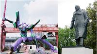 Jurnalis Inggris Buat Petisi untuk Ganti Patung Churchill dengan Robot Anime